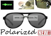 Korda Sunglasses Aviator Mat Black Frame - Grey Lens Polarized napszemüveg (K4D03)
