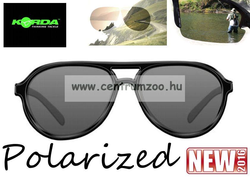 Korda Sunglasses Aviator Mat Black Frame - Grey Lens Polarized napszemüveg  (K4D03) be1d2549ee