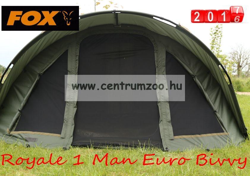 ffb18170dc FOX Royale 1 Man Euro Dome Bivvy SÁTOR 300x178x128cm (CUM186 ...
