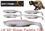 Savage Gear LB 3D Bleak Paddle Tail 8cm 4g 5db 05-White Silve gumihal (50439) küsz utánzat
