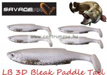 Savage Gear LB 3D Bleak Paddle Tail 8cm 4g 5db 05-White Silve gumihal (50439) küsz utánzat