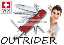 Victorinox Swiss OUTRIDER Red jobb és bal kezes piros zsebkés, svájci bicska  0.8513