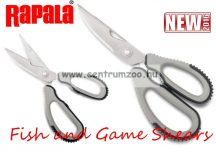 Rapala Fish and Game Shears Scissors Premium multifunkciós olló (RFGS-B)