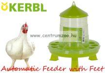 KERBL GARDEN Poultry Breeding Automatic Feeder with Feet Baromfi, fácán, egyéb madár önetető lábbal 14,4liter 12-13kg (70129)