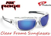 FOX Rege Sunglasses Clear Frame - Mirror Blue Lense polar napszemüveg (NSN003)