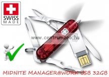 VICTORINOX MIDNITE MANAGER@WORK USB 32GB PENDRIVE  zsebkés, svájci bicska 4.6366.TG32
