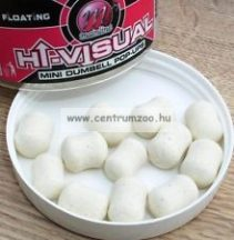 MAINLINE Baits High Visual Pop-Ups Dumbell White Milky 10mm 60db lebegő fluo bojli (M13016)