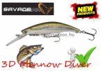 Savage Gear 3D Minnow Diver 7.5cm 9g F 04-Ghost Silver wobbler (57367)