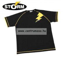 """Storm póló """"Flash"""" fekete/sárga L (69201-1)"""