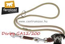Ferplast Derby GA12/200 Beige bőr póráz & nyakörv erős kivitelben 2m (75383702) bézs