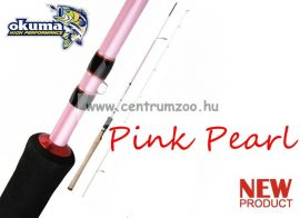 "OKUMA Pink Pearl 8'2"" 10-32g M Spin - 2sec pergető bot (43997)"