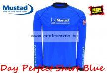 Mustad Day Perfect Shirt Blue hosszúujjú póló kék (NLMU10622-10625)
