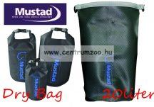Mustad táska Dry Bag Grey Tarpaulin PVC 40liter vízálló táska (MB012)