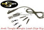 Carp Spirit Anti Tangle Lead Clip Rig DarkGreen szett - 3db szett (ACS010227)