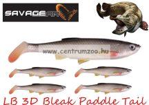 SAVAGE GEAR LB 3D Bleak Paddle Tail 13.2cm 17g 4pcs 01-Bleak gumihal (48747) küsz utánzat