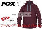 FOX CHUNK™ Ribbed Hoody Burgundy 2017new pulóver XL (CPR530)