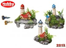 Nobby akvárium dekoráció világító torony 7,5-8,5cm (28226)