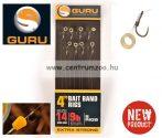Guru Ready Rigs Hooks előkötött horog karikával 12-es méret 0,22mm 8db (GRR009)