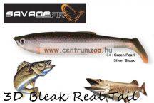 SAVAGE GEAR LB 3D Bleak Paddle Tail 8cm 4g 5pcs 04-Green Pearl Silver Black gumihal (50438) küsz utánzat