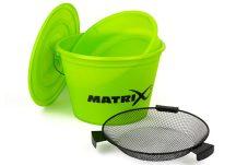 FOX Matrix Bucket Set - LIME Etetőanyag keverő vödör 25L tállal, szitával és tetővel (GBT020)