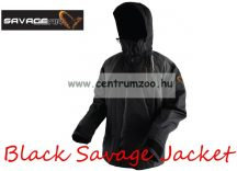 Savage Gear Black Savage Jacket Grey kabát - Medium (50809)