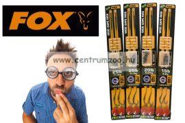 Fox EDGES™ WIDE GAPE READY RIGS WEEDY GREEN 25lb, size 4 - Barbed (CCR139) előkötött komplett előke horoggal