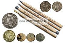 RESTAURÁLÓ-TISZTÍTÓ CERUZA SZETT érmékhez, ékszerekhez