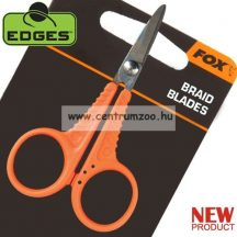 Fox Edges Scissors -- ORANGE olló - fonott zsinórokhoz is (CAC563)
