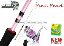 OKUMA Pink Pearl pergető bot+orsó+ zsinór szett   (43996szett)