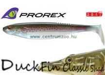 Daiwa Prorex DuckFin Classic Shad 100DF BB  prémium gumihal  7,5cm - Rainbow Trout (16720-008)