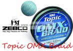 Zebco Topic OMX BRAID 100m 0,43mm 35,5kg fonott zsinór