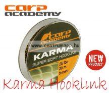 CARP ACADEMY Karma Hooklink 20m 25lb Brown (3311-925)