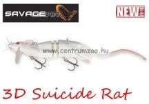 Savage Gear 3D Rad Rat mű úszó patkány csukára, harcsára 20cm 32g (White color) (53738)