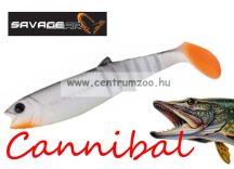 SAVAGE GEAR LB Cannibal Play Body  8cm gumihal White & Black (61848)