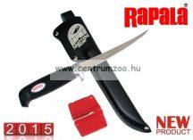 Rapala Soft Grip filézőkés 10cm pengével+ SH1 késélező (BP704SH1 )