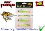 Fox Rage Mini Fry 7cm 5g 4db prémium gumihal Loaded Lemon (NSL634)