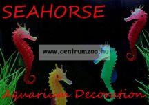 Akváriumi dekoráció - szilikon csikóhal - PIROS (OM-5015A )