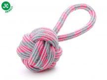 JK Animals TARTÓS fogtisztító füles kötéllabda játék 9cm (45995-2)