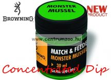 BROWNING Match & Feeder Dip green Monster Mussel 30ml tömény dip (3900006) - kagyló