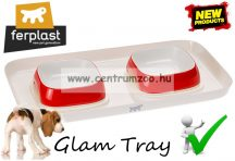 Ferplast Glam Tray Bowl ExtraSmall Red dupla tál  (71908322) pirps