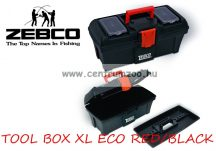 Zebco® TOOL BOX XL ECO RED & BLACK horgászláda (8033002)