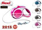 Flexi Vario 2015NEW M PINK 8m 20kg automata póráz -rózsaszín