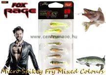 Fox Rage Micro Spikey Fry 4cm Mixed Colours Qty 8 prémium gumihal 8db (NSL1160)