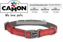 Camon Cubic Red 15mm  28-42cm széles textil nyakörv (DC108/B)