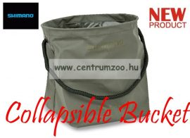 SHIMANO Olive Collapsible Bucket összehajtható vödör, tároló (SHOL26)