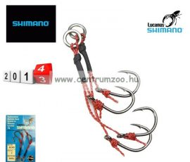 Shimano Lucanus Duo Hook horog 2pár/csomag 1/0méret (JLCHM)