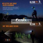 fejlámpa  FENIX HL26R Black LED AKKU FEJLÁMPA (450 LUMEN) vízálló NEW - FEKETE