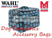 WAHL MOSER Dog Cosmetics Accessory Bag black/paw turquoise kutyakozmetikusi kötény (0093-6300)