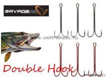 Savage Gear Double Hook #1/0 6pcs hosszúszárú kétágú horog (54932)