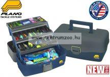 Plano 5300-06 3 tálcás láda 38x22x19cm szürke/kék